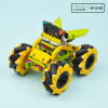 Wonder Rugged Car Kit : Lego compatible Mecanum wheel DIY car kit for micro:bit (without micro:bit board)