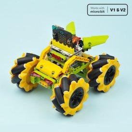 Wonder Rugged Car Kit : Lego compatible Mecanum wheel DIY car kit for micro:bit (without micro:bit board)