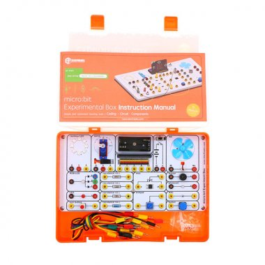 Experiment Box Kit :14 components on board to learn how to use micro:bit to control circuit (without micro:bit board)