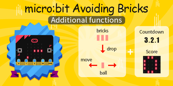 micro:bit Avoiding bricks---Additional functions