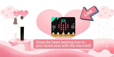 Show the heart-beating icon to your loved ones with the micro:bit!