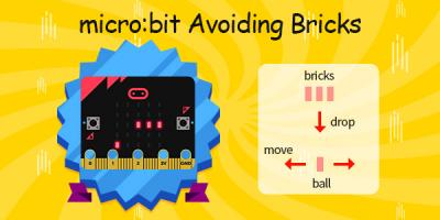micro:bit Avoiding Bricks