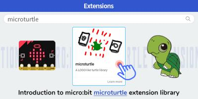 Introduction to micro:bit microturtle extension library