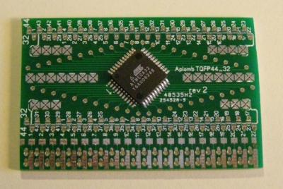 Evaluation of Aplomb SOIC- and TQFP adapters and BreadStrip