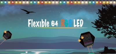Flexible 64 RGB LED 8*8 Rainbow Gradient