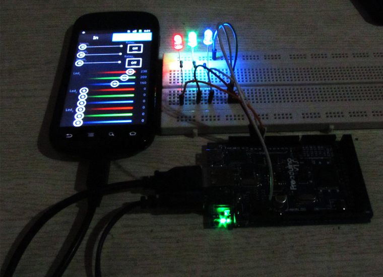Control LED with Android and Freaduino ADK